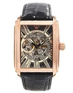 Armani Meccanico Black Skeleton Dial Men's watch #AR4233