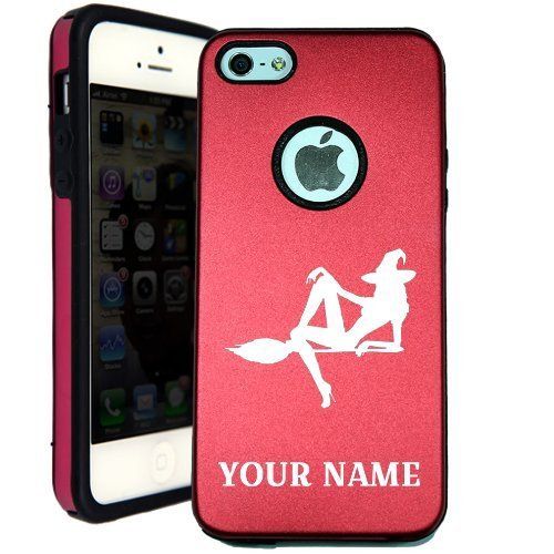 Personalized Customized Custom Sexy Witch iPhone 5 Case iPhone 5S Case - MetalTouch Red Aluminium... sale 2015