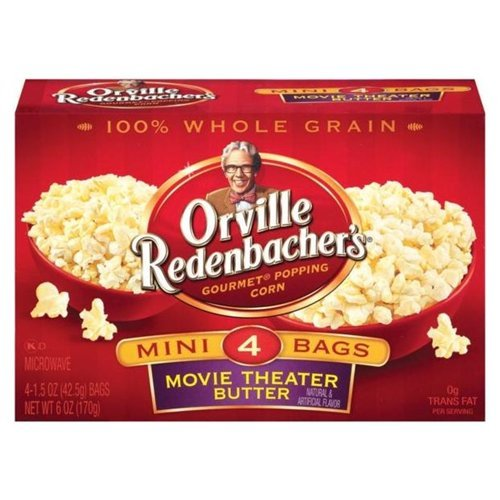 Orville Redenbacher's Gourmet Microwavable Popcorn Movie Theater Butter Mini Bag, 4 Count Boxes (Pack of 12) (Microwavable Popcorn Bulk compare prices)