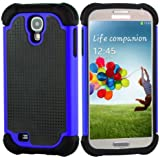 SOOPER Blue Defender Heavy Duty Protective Hard Full Body Cover Case for Samsung Galaxy S4 (Blue)