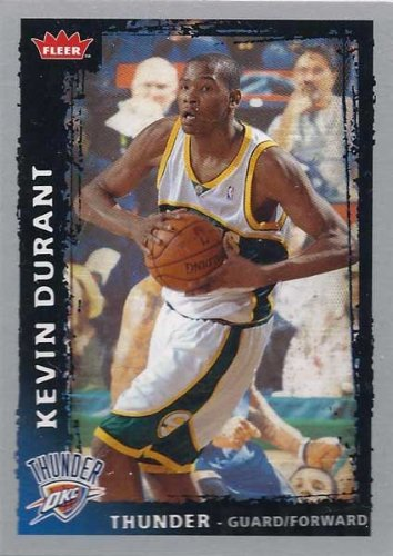 Kevin Durant 2008 2009 Fleer Mint Condition 2nd Year Card #195 Picturing This Oklahoma City Thunder Star in His Seattle Supersonics Jersey! at Amazon.com