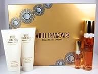 Elizabeth Taylor White Diamonds 4 Piece Gift Set for Women (Eau de Toilette Spray 1.7 Ounce, Mini…