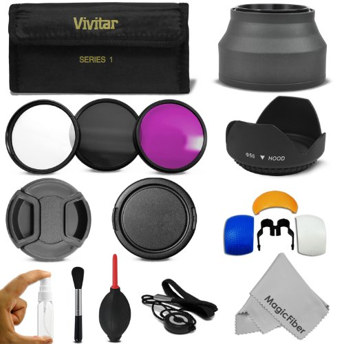 58MM Professional Accessory Kit for CANON EOS Rebel T5i T4i