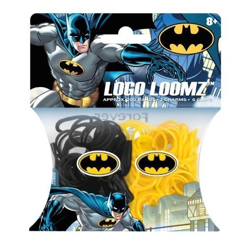 Hit Entertainment Licensed Logo Loomz Filler Loom Bands & 2 Charm Pack - Disney, DC Comics & More! (DC Comics - Batman)