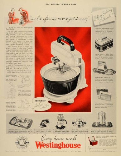 1936-ad-westinghouse-food-crafter-appliances-mixer-original-print-ad