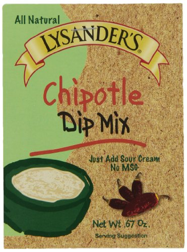 Lysander's Dip Mix, Chipotle, 1-Ounce (Pack of 6)