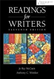 img - for Readings for Writers (with InfoTrac) 11th edition by McCuen-Metherell, Jo Ray, Winkler, Anthony C. (2003) Paperback book / textbook / text book