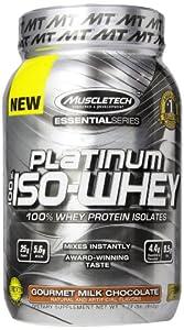 MuscleTech Platinum 100% ISO Whey Supplement, Gourmet Milk Chocolate, 1.79 Pound
