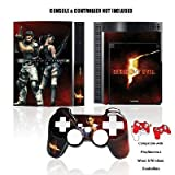 PS3 Resident Evil 5 Skin + Controller Faceplate [German Version]