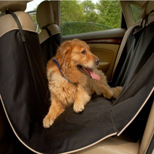 Luxurious Waterproof Large Dog Car Seat Covers For Pets Black H42027 back-463660