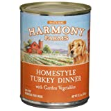 HARMONY FARMS Homestyle Turkey Dinner with Garden Vegetables Food for Dogs, 12.5-Ounce Cans (Pack of 12)