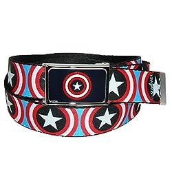Buckle Down Unisex Big & Tall Mavel Avengers Captain America Shield Adjustable B, Shields