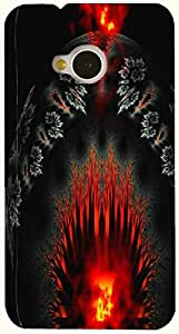 Significant multicolor printed protective REBEL mobile back cover for HTC One M7 D.No.N-T-2332-M7