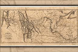 24x36 Poster; Map Of Lewis And Clark\'S Expedition Pub 1814; Antique Reprint