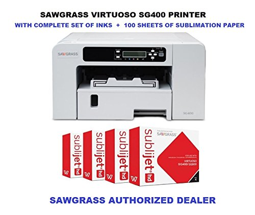 SAWGRASS-VIRTUOSO-SG400-sublimation-printer-with-Complete-set-of-HD-inks-CMYK-and-100-sheets-of-SUBLIMATION-PAPER