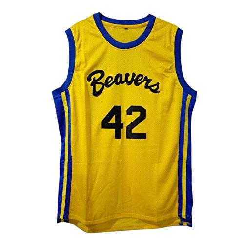 MOLPE Scott Howard #42 Teen wolf Beavers Basketball Jersey S-XXXL Yellow