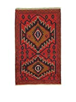 L'Eden del Tappeto Alfombra Beluchistan Rojo / Multicolor 86 x 140 cm