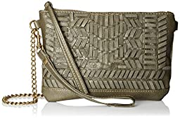 T-Shirt & Jeans Woven Cross Body, Olive, One Size