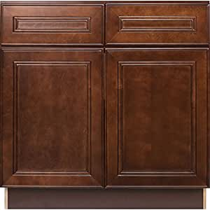 Everyday cabinets 36 x 34 5 x 24 in soft - 24 inch kitchen cabinet with drawers ...