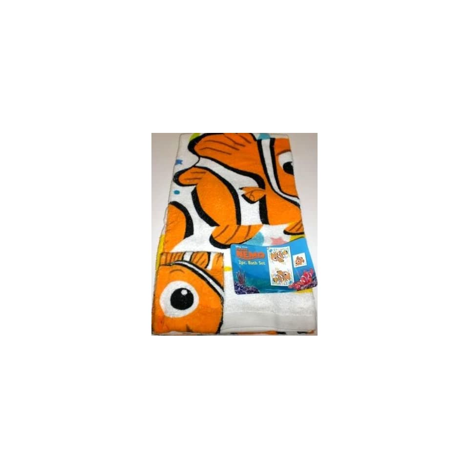 Disney finding nemo 2pc bath set towel and washcloth on - Finding nemo bathroom sets ...