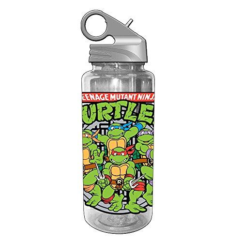 Silver Buffalo NT1764 Teenage Mutant Ninja Turtles Group Shot BPA-Free Tritan Water Bottle, 600mm/20 oz, Gray (Ninja Turtles Water compare prices)