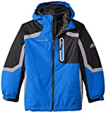 Free Country big boys' Systems Coat with Puffer Jacket, Electric Blue, Medium/10-12