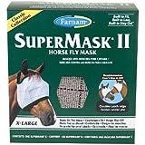 Farnam SuperMask II Classic Horse Fly Mask, X-Lrg., Assorted