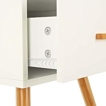 lomos no 4 armoire d 39 appoint d 39 appoint en bois blanc avec un panneau panneau coulissant. Black Bedroom Furniture Sets. Home Design Ideas