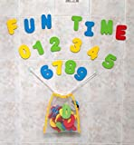 Click N' Play Bath Foam Letters & Numbers with Mesh Bath Toys Organizer (36 Count)