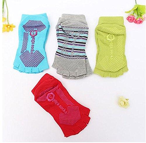Blue, Sports Yoga Gym Dance Socks Non Slip Fitness Cotton Socks by SiamsShop