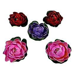Thefancymart Decorative Water Floating lotus flowers set of 5 Style Code-5