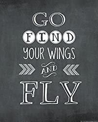 Heritage 1093 Go Find Your Wings Wall Decor 25 x 20-Inch 20 x 16-Inch