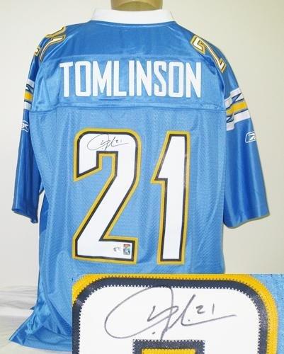 on sale 1111e 6c836 LaDainian Tomlinson Autographed Powder Blue Reebok Chargers ...