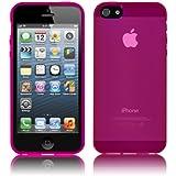 PrimaCase - Coque pour Apple iPhone 5 / 5s en TPU Silicone Semi-Transparent - Rose (Pink)