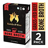 Kettle and Fire Beef Bone Broth Soup, Pack of 2, Keto Diet, Paleo Friendly, Whole 30 Approved, Gluten Free, with Collagen, 7g of protein, 16.2 fl oz (Tamaño: Pack of 2)