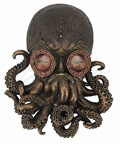 Steampunk Octopus Wall Plaque Sculpture