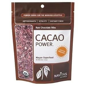 Certified Organic Kosher Raw Vegan Healthy Navitas Naturals Cacao Chocolate Nibs - 1 Pound Bag! Natures Chocolate Chips!
