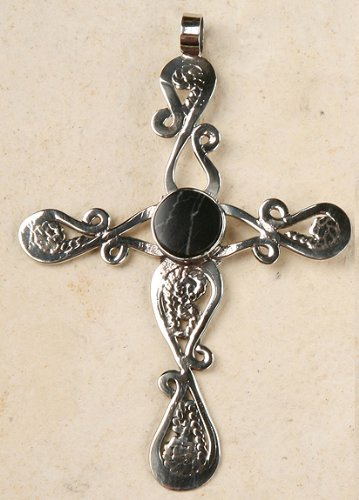 Peruvian Cross or Ornament - Onyx
