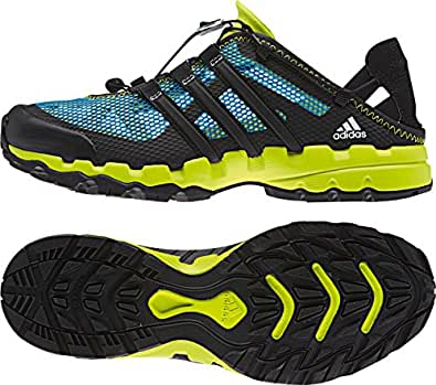 Amazon.com: Adidas Men's Hydroterra Shandal, BLUE/BLACK/GREEN, 12 M US ...