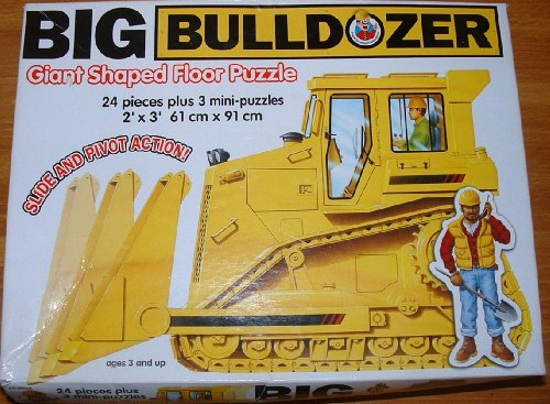 Picture of Frank Schaffer Big Bulldozer Giant Shaped Floor Puzzle 2'X3' (B0030BCE78) (Floor Puzzles)
