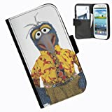 Hairyworm-The Muppets Samsung Galaxy S3 Mini leather side flip wallet case case for Samsung Galaxy S3 Mini phone