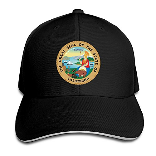 Cool Sandwich Bill Cap Great Seal Of State Of California Logo Trucker Hat (Great Seal Hat compare prices)