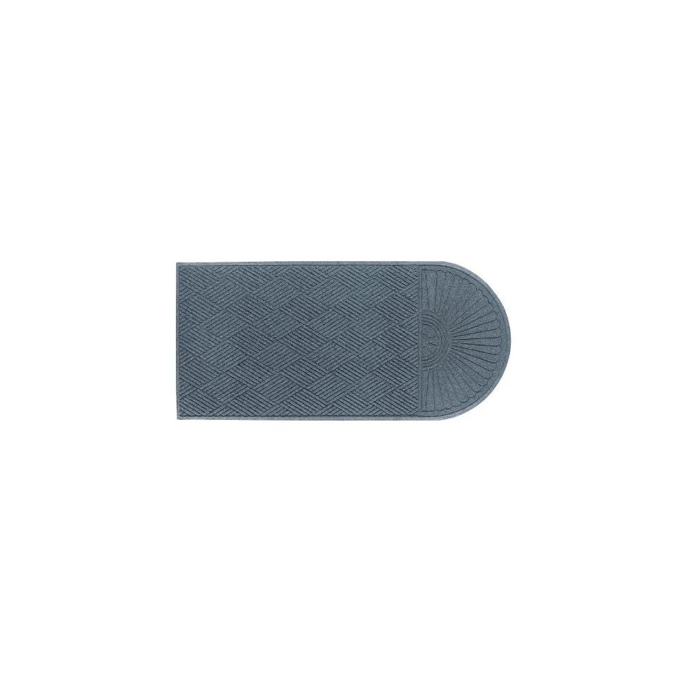 Andersen 272 Waterhog Grand Classic Polypropylene Fiber Half Oval Entrance Indoor/Outdoor Floor Mat, SBR Rubber Backing, 2.3 Length x 4 Width, 3/8 Thick, Bluestone