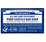 Dr. Bronner's Magic Soaps Bar Soap-Peppermint, 140g