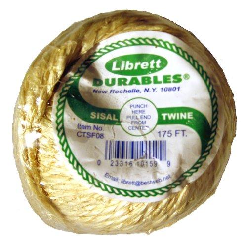 Librett Biodegradable Sisal Twine, 175 FT - 8oz - 2 Ply