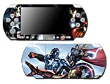 Avengers 2 Movie Iron Man Thor Captain America Hulk 3 Age of Ultron Thanos Video Game Vinyl Decal Skin Sticker Cover for Sony PSP Playstation Portable Slim 3000 Series System