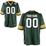 DIYZE Men Green Bay Packers Custom Game Green Color Man Jersey Size S M L XL 2XL 3XL