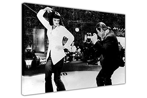 "Pulp Fiction Stampe Dance Off Pellicola Foto su tela da parete con cornice Art Movie Poster, Tela, 03- 20"" X 16"" (50CM X 40CM)"