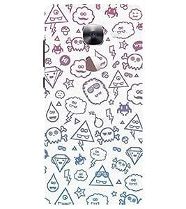 Chiraiyaa Designer Printed Premium Back Cover Case for LeEco Le 2 (pattern danger funky funny) (Multicolor)