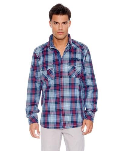 Pepe Jeans London Camicia Grafton [Blu/Rosso]